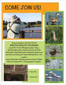 """Come join us"" ad for the Bird Naturalist Program"""